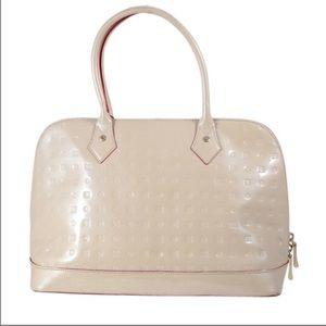 Arcadia Italian Embossed Monogram Leather Bag